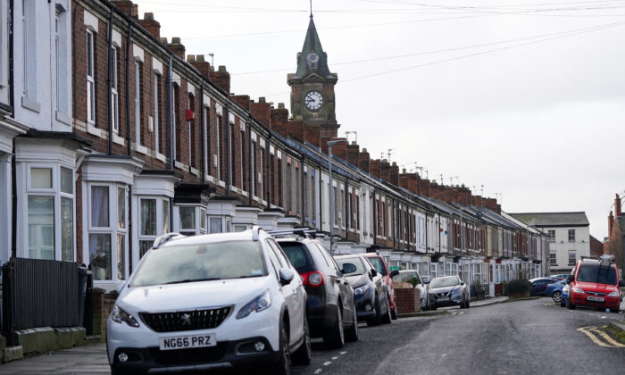 General view of residential properties in Darlington, England, on March 04, 2021. (Ian Forsyth/Getty Images)