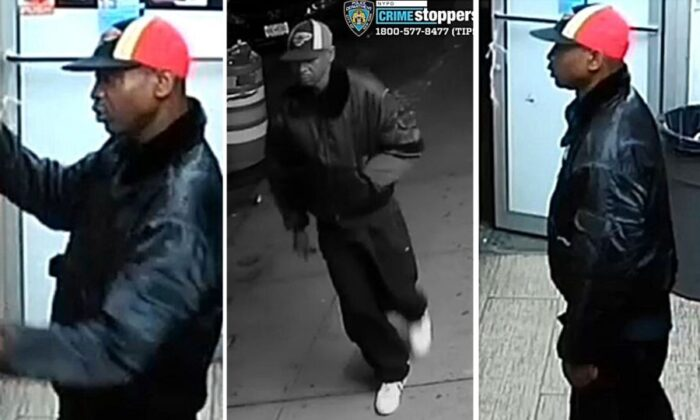 The NYPD released new images of a suspect who is believed to have kicked and stomped a 61-year-old Asian male in New York, leaving him hospitalized. (NYPD)