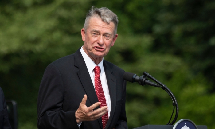 Idaho Gov. Brad Little speaks at the White House on July 16, 2020. (Jim Watson/AFP via Getty Images)