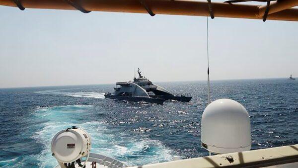 Iranian vessel cut in front of U.S. USCGC