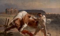 The Power of Restraint: 'Ian Usmovets Stopping an Angry Bull'