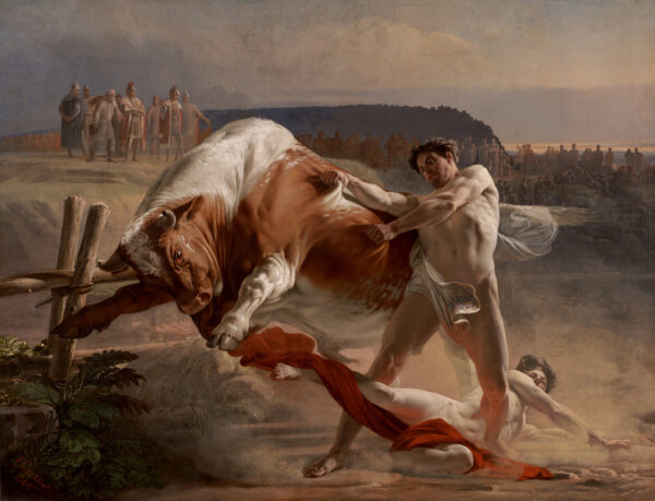 Evgraf_Semenovich_Sorokin_-_Ian_Usmovets_Stopping_an_Angry_Bull