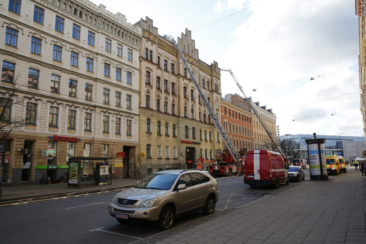 Latvia Building Fire