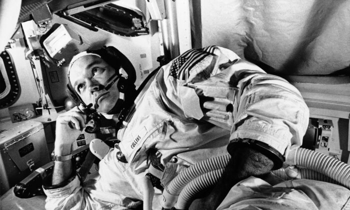Apollo 11 command module pilot astronaut Michael Collins takes a break during training for the moon mission, in Cape Kennedy, Fla., on June 19, 1969. (AP Photo)