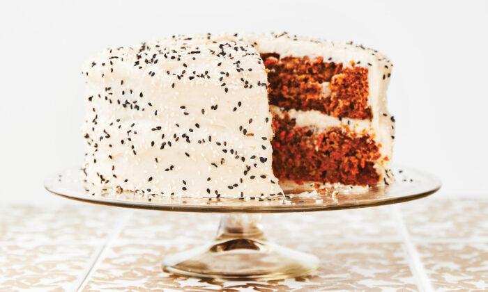 Rachella's Tahini Carrot Cake. (Photo copyright Jillian Guyette, courtesy of Agate Publishing)
