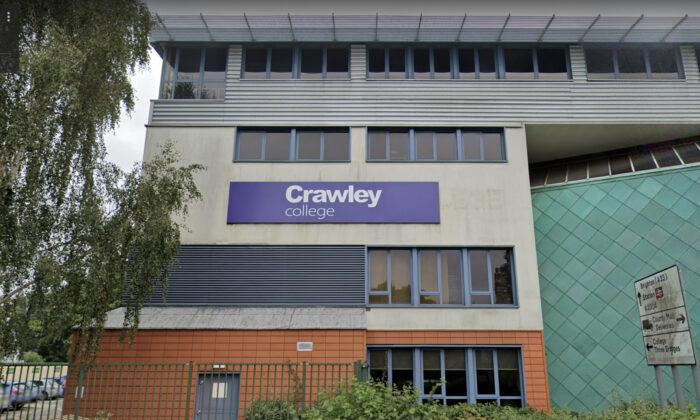 Crawley College in Sussex, England. (Screenshot via Google Maps)