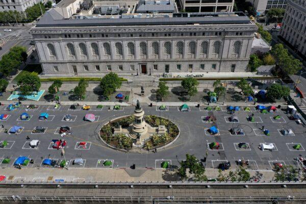 tent encampment for the homeless