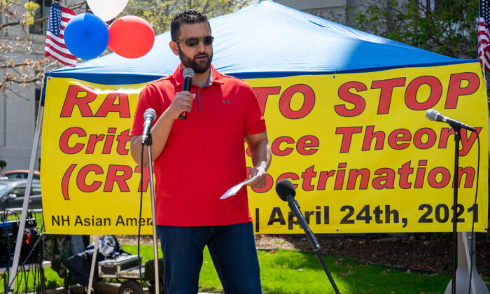 New Hampshire State Representative Darryl Abbas said he objected to the Critical Race Theory as a concerned father and husband.(Learner Liu/The Epoch Times)