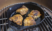 Crispy Cast Iron Chicken Thighs