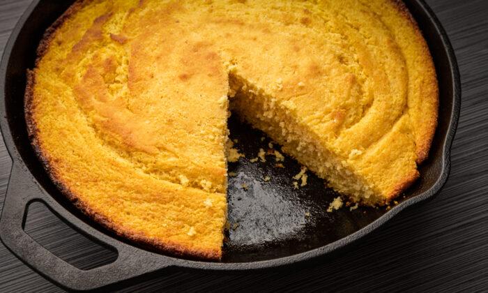 Cast iron gives cornbread a crisp, dark golden crust. (Bruce Peter/Shutterstock)