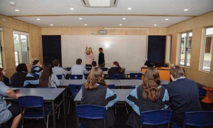A classroom at Brisbane's Bracken Ridge High School. (AAP image/Hivve)