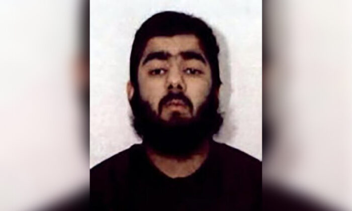 Usman Khan. (West Midlands Police via AP)