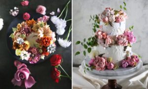 Pastry Chef Turns Cakes Into Art With Photorealistic Bouquets of Buttercream Flowers