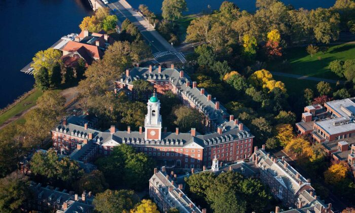An aerial view of the Harvard University campus in Cambridge, Massachusetts. (Joe Sohm/Dreamstime/TNS)