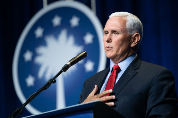 Mike Pence Delivers His First Address Since The End Of His Vice Presidency