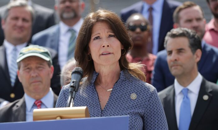 Rep. Cheri Bustos (D-Ill.) is seen in Washington on May 21, 2018. (Chip Somodevilla/Getty Images)