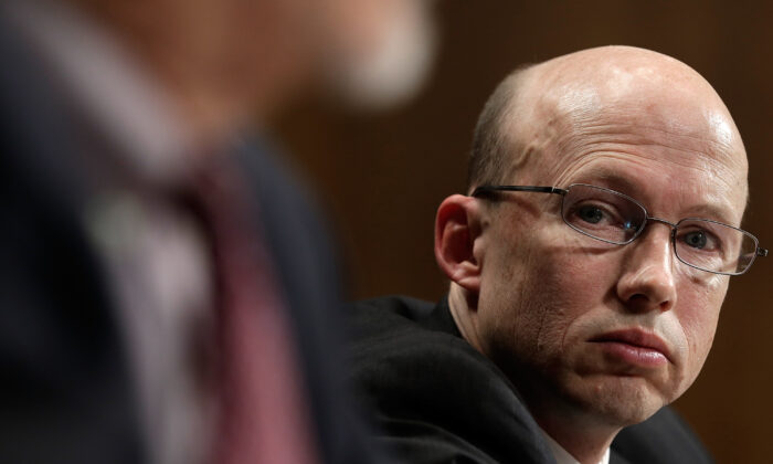 Brad Weigman, an assistant attorney general at the Department of Justice, testifies to Congress in Washington in a file photograph. (Win McNamee/Getty Images)
