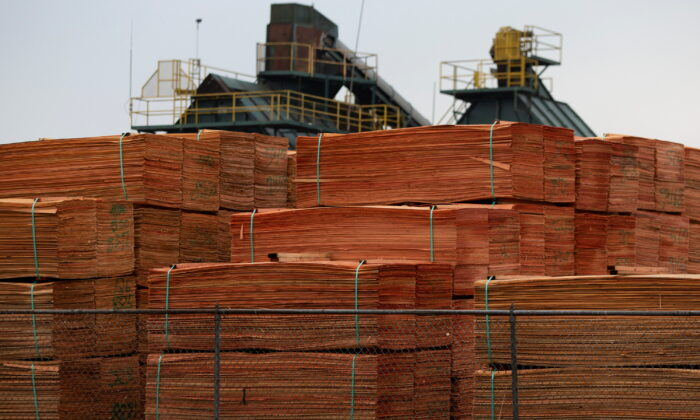 Lumber is stored at a facility in Lyons, Ore., on Nov. 29, 2020.  (Alisha Jucevic/Reuters)