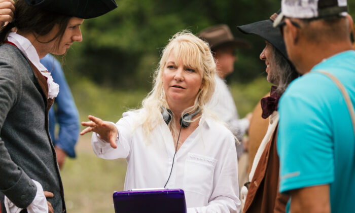 """Capernaum Studios founder Tammy Lane directs """"Washington's Armor,"""" a trilogy about the life of young George Washington. (Courtesy of Capernaum Studios)"""