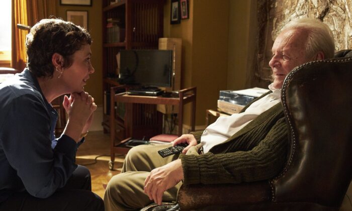 Anne (Olivia Colman) tries to lovingly care for father Anthony (Anthony Hopkins), who is declining mentally. (Sony Pictures Classics)