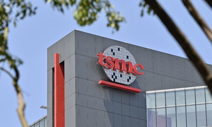 A factory of Taiwanese semiconductors manufacturer TSMC at Central Taiwan Science Park in Taichung, Taiwan, on March 25, 2021. (Sam Yeh/AFP/Getty Images)