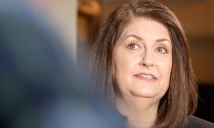A screenshot of Susan Wright. (Susan Wright for Congress/Screenshot via NTD)