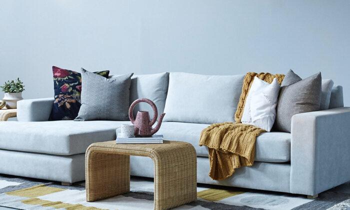 An elegant setting for Classic Sofa's custom-made sofa. (Courtesy of Classic Sofa)