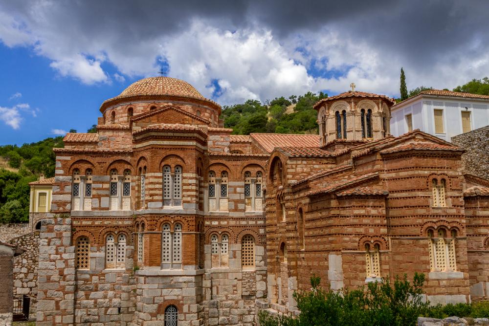 The,Famous,Monastery,Of,Hosios,Loukas,,A,Historic,Walled,Monastery