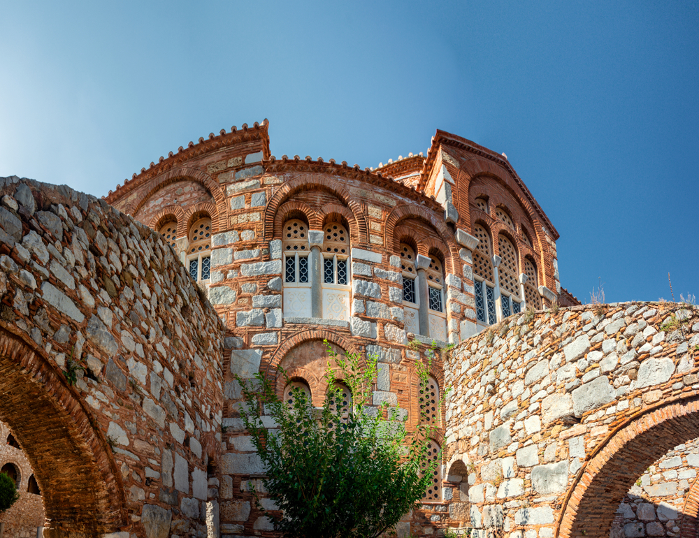 Distomo,greece,-,Aug,10,,2019,:hosios,Loukas,Monastery,Is,One
