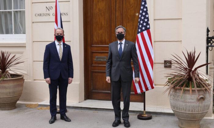 G7 foreign ministers Antony Blinken Dominic Raab