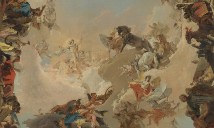 """""""Detail of Allegory of the Planets and Continents,"""" in 1752 by Giovanni Tiepolo."""