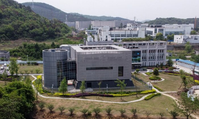 An aerial view shows the P4 laboratory at the Wuhan Institute of Virology in Wuhan, China, on April 17, 2020. (Hector Retamal/AFP via Getty Images)