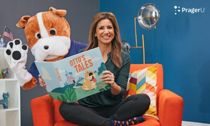"""Jill Simonian presents PragerU's children story time show """"Otto's Tales."""" (PragerU)"""