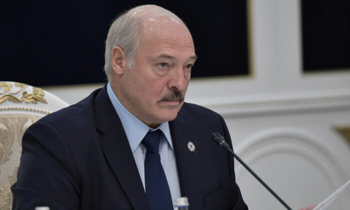 Belarusian President Alexander Lukashenko attends a session of the Council of the Collective Security Treaty Organization (CSTO) in Bishkek, Kyrgyzstan, on Nov. 28, 2019. (Sputnik/Alexei Nikolsky/Kremlin via Reuters)