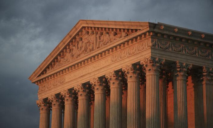 The U.S. Supreme Court is seen at sunset in Washington on Oct. 4, 2018. (Manuel Balce Ceneta/AP Photo)
