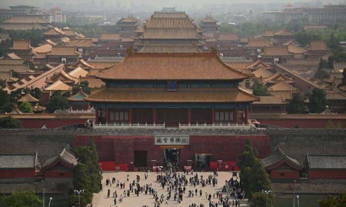 People visit the Forbidden City in Beijing during the Labor Day holidays, which take place from May 1 to May 5, on May 3, 2021. (Noel Celis/AFP via Getty Images)