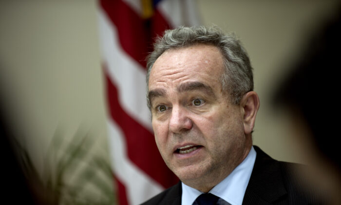 Kurt Campbell, then U.S. Assistant Secretary of State for East Asian and Pacific Affairs, speaks at a press conference at the U.S. embassy in Kuala Lumpur, Malaysia, on Dec. 13, 2012. (Saeed Khan/AFP via Getty Images)