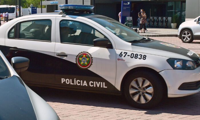 Police patrol cars in Brazil, in a file photo. (Tasso Marcelo/AFP via Getty Images)