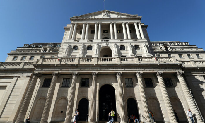 The Bank of England, in the City of London, Sept. 9, 2020. (PA)