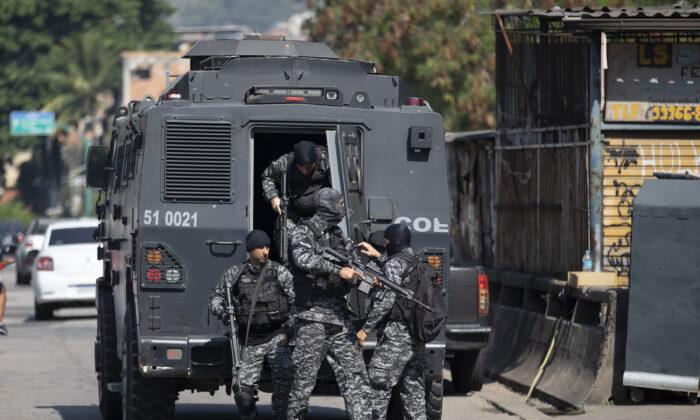 Brazilian police in a file photo. (Silvia Izquierdo/AP Photo)