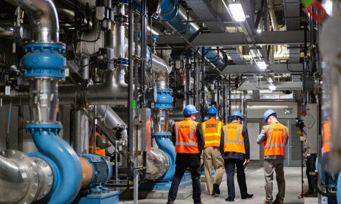 The Orange County Water District plant in Fountain Valley, Calif., on April 27, 2021. (John Fredricks/The Epoch Times)