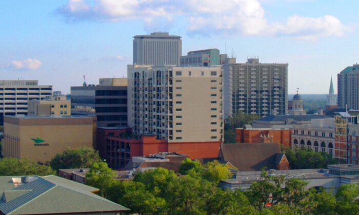 Panoramic view of downtown Tallahassee on Oct. 1, 2009. (urbantallahassee via Wkimedia Commons/CC BY-SA 3.0)