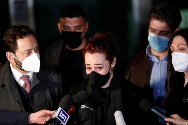 Wdow of slain Carabinieri military police officer