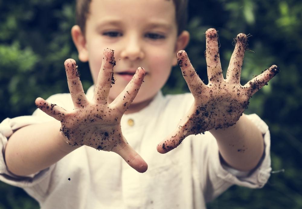 Little,Kid,Playful,Cheeky,Dirt