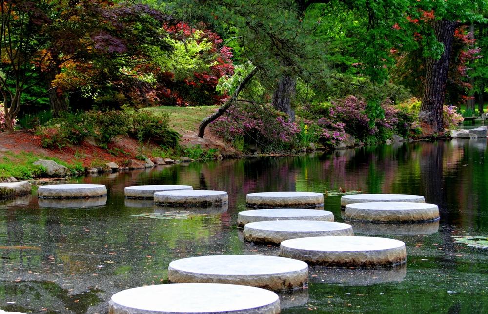 Japanese,Garden,At,Maymount,Park.,Richmond,Virginia.