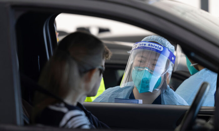 COVID-19 testing at the Bondi Beach drive-through clinic in Sydney, Australia on May 7, 2021. (Photo by Brook Mitchell/Getty Images)