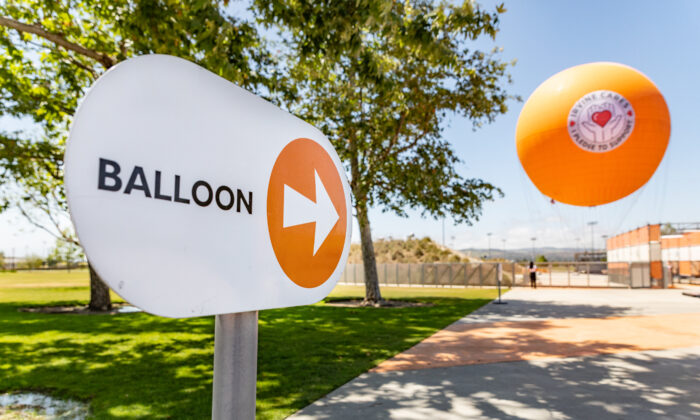 The Orange County Great Park Balloon in Irvine, Calif., on May 6, 2021. (John Fredricks/The Epoch Times)