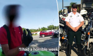 Deputy Pulls Over Biker Who Just Saw Friend Die, Offers a Shoulder to Lean on Instead of Ticket