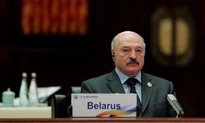 Belarus President Alexander Lukashenko attends the Roundtable Summit Phase One Sessions of Belt and Road Forum at the International Conference Center in Yanqi Lake, Beijing, China, on May 15, 2017. (Lintao Zhang/Pool/Reuters)