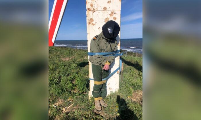 French pilot tied to firing target in hazing ritual